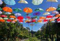 payung cantik di borobudur