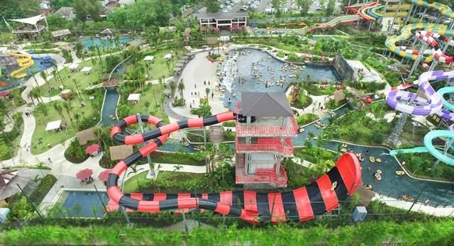 Brando Boomeranggo Jogja bay Waterpark dari Ketinggian