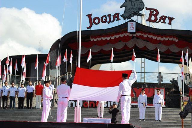 Unik, 17 Pasukan Pengibar Bendera Bergada di Jogja Bay