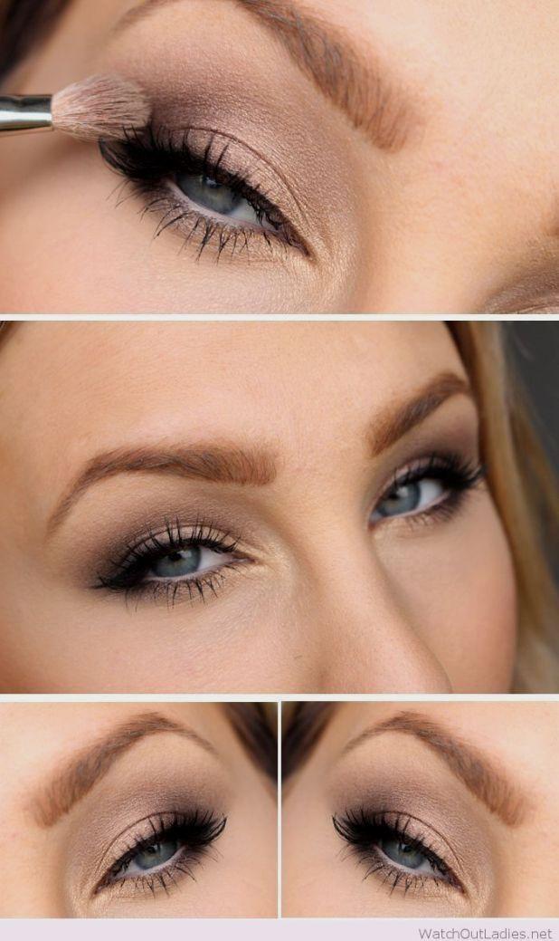 Natural Wedding Makeup for Blue Eyes