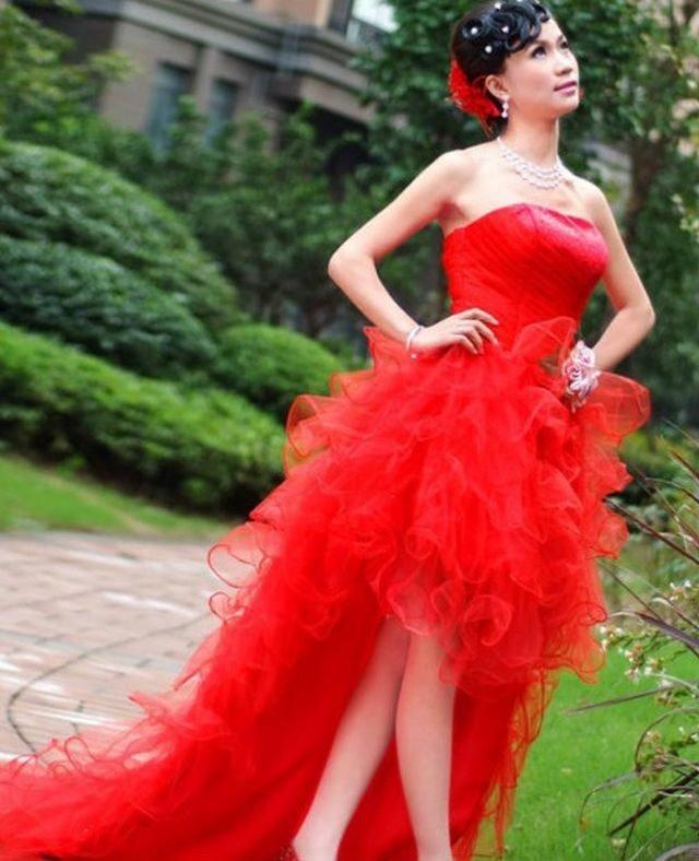 Amazing Short Red Wedding Dresses