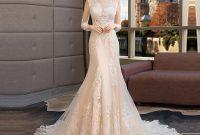 Vintage Long Sleeve Mermaid Wedding Dress