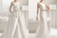 Detachable Train Wedding Gown